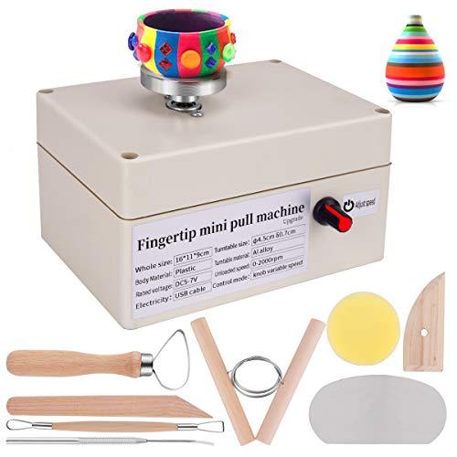 Yofuly Mini Pottery Wheel, USB Pottery Machine with 6...