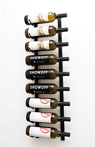 VintageView 9 Bottle Wall Mounted Metal Hanging Wine Rack