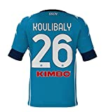 SSCN6|#SSC Napoli Maglia Camiseta réplica Home 2020/21 Koulibaly, Unisex Adulto, Azul-Azul, S
