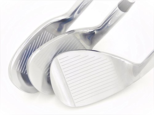 LAZRUS Premium Forged Golf Wedge Set for Men - 52 56 60 Degree Golf Wedges + Milled Face for More Spin - Great Golf Gift (Silver Wedge Set)