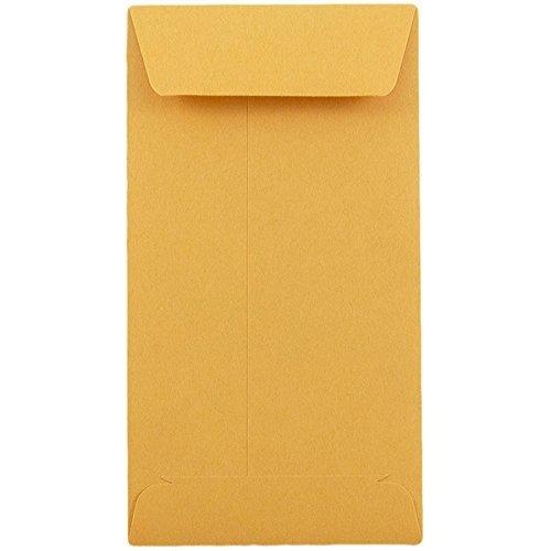 Ambit Envelopes 3-1/2' X 6-1/2' Premium 24lb #7 Kraft Envelopes, Good for Coin/Cash/Small Parts (500 Count) Item# PAEF003