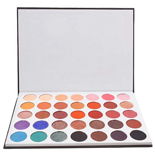 Qianren 35-Color Matte und Shimmer Powder Lidschatten-Palette Bunte Augen Make-up Lidschatten-Pfanne