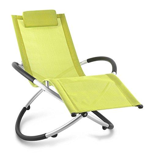 blumfeldt Chilly Billy ergonomische Gartenliege Liegestuhl Gartenstuhl Klappstuhl (Liege, 120 kg maximale Belastung, atmungsaktiv, witterungsbeständig, pflegeleicht, faltbar) grün