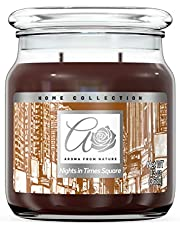 Aroma From Nature Nights in Time Square 13 oz Home Collection Scented Candle - 1 Pack - Aromatherapy Candles - Home Fragrance - Apothecary Glass With Triple Wick