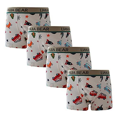 JT-Amigo 4er Pack Kinder Jungen Boxershorts Unterhosen Gr. 92-98, Mehrfarbig, 92-98 (S)