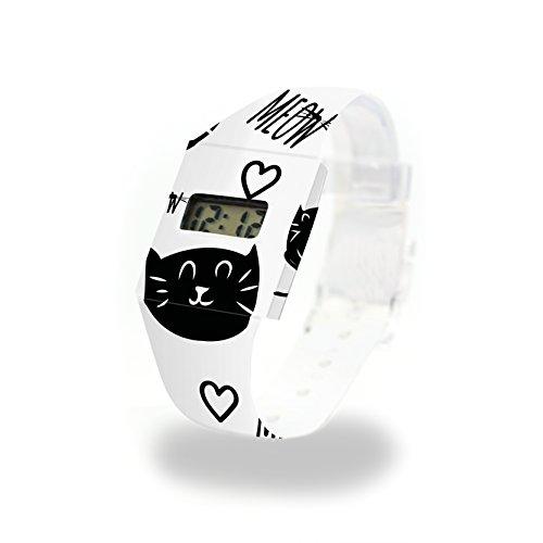MEOW - Pappwatch - Paperlike Watch - Digitale Armbanduhr im trendigen Design - aus absolut reissfestem und wasserabweisenden Tyvek® - Made in Germany, absolut reißfest und wasserabweisend