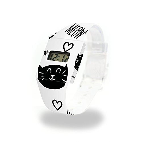 MEOW - Pappwatch - Paperlike Watch - Digitale Armbanduhr im trendigen Design - aus absolut reissfestem und wasserabweisenden Tyvek® - Made in Germany, absolut reißfest und wasserabweisend