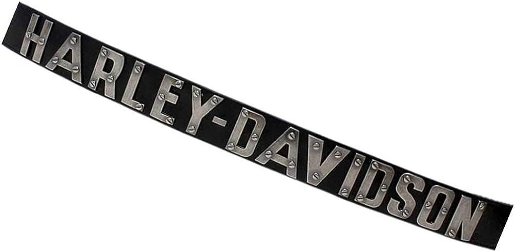 Harley-Davidson Men's Belt, Metal H-D Font, Black Leather Belt HDMBT10636