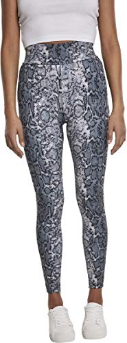 Urban Classics Damen Ladies AOP Yoga-Pants High Waist Sport Leggings, Mehrfarbig (Grey Snake 02065), W(Herstellergröße: S)