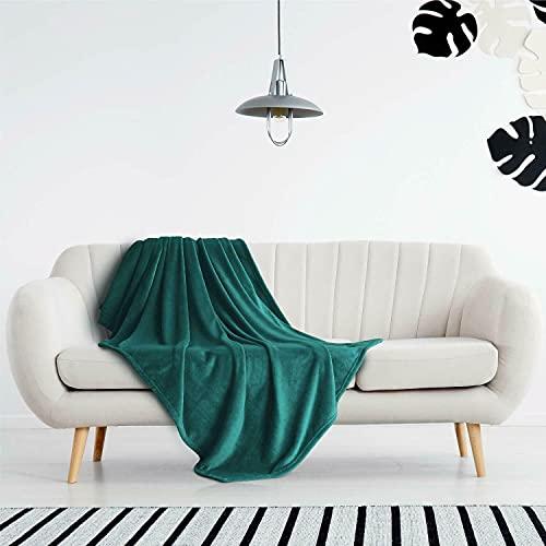 AiShengHuoAcc Manta para Cama,Manta de sofá,Manta para niños,Manta para Mascotas,Manta Transpirable (Verde Oscuro, 150x200 cm)