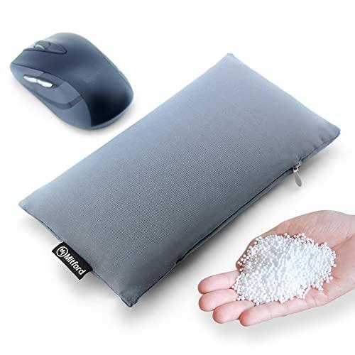 Bean Bag Wrist Rest Cushion - Ergonomic Beads Wrist Rest Pad - Computer Mouse Wrist Pad Bean Bag for Carpal Tunnel and Arthritis Pain Relief (Dark Grey Wrist Pillow - Polyester Elastane)