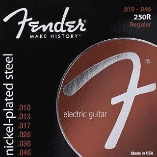 Fender Super 250's Nickel-Plated Steel Electric Guitar Strings (0730250406)