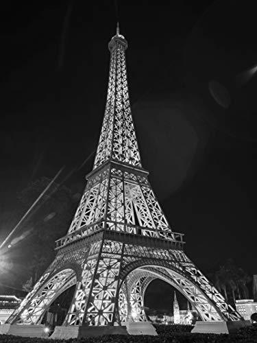 Forwall Fototapete Vlies Tapete Wandtapete Stadt - Paris Eiffelturm Nacht Moderne Wand Dekoration Wandbild 2426VEA 206cm x 275cm Schlafzimmer Wohnzimmer