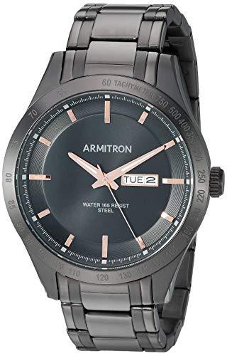 Armitron Men's 20/5174BRTI Day/Date Function Black Bracelet Watch