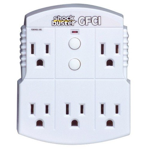 Morris Products 5 Outlet GFCI Shock Buster – GFCI Protected, Converts Outlets to GFCI – 1875...