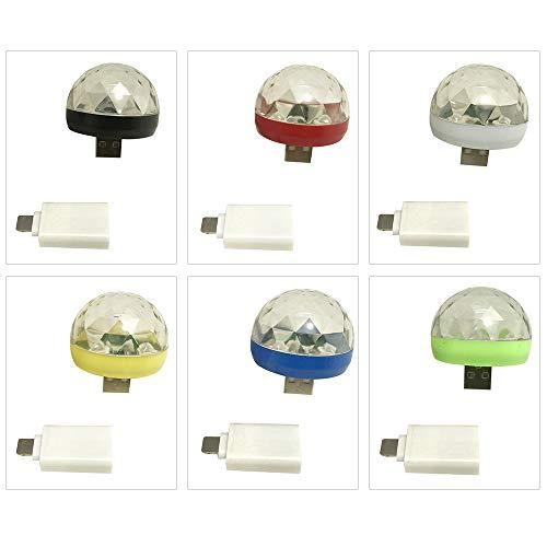 Lilideni Mini Disco Licht rotierenden USB & Lightning Port magische Kugel Licht RBG LED Lampe tragbare Home Party Bühne Licht zufällige Farbe