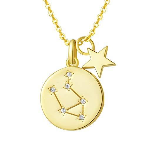 Sternzeichen Kette aus Solide 925 Sterling Silber