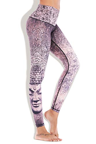Chisportate Women High Waist Yoga Legging Power Flex Tummy Control Workout Stretch Sport Yoga Pants for Gym Exercise Fitness