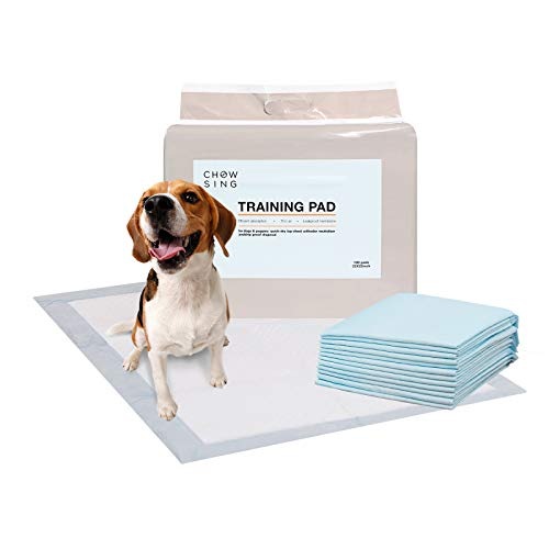 Nourse CHOWSING Dog Pee Pad 100 Counts Absorbent Dog Pads with Adhesive Sticky Tape Quick Drying Pet Pads Prevent Leakage Dog Training Pads and Training Pads for Dogs 22 x 22 Puppy Pads
