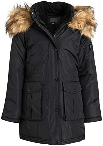 Steve Madden Girls Heavyweight Durable Winter Parka Expedition Jacket with Fur Trimmed Hood product image