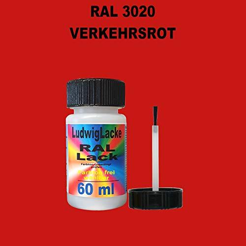 60 ml Lackstift mit Pinsel im Farbton RAL 3020 Verkehrsrot