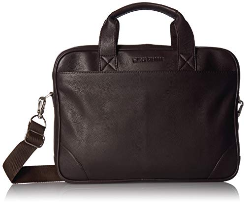 Ben Sherman Top Zip Laptop Portfolio, Brown, One Size