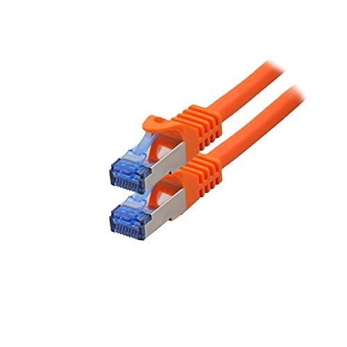 BIGtec - 2 Stück - 15m CAT.7 Gigabit Patchkabel Netzwerkkabel schwarz Kupferkabel Patch Ethernt LAN DSL Kabel CAT7 (RJ45, Cat 7, S/FTP PIMF) 15,00m