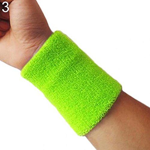 KaariFirefly Polsino sportivo per tennis, squash, badminton, palestra, basket, idea regalo, Fluorescent Green
