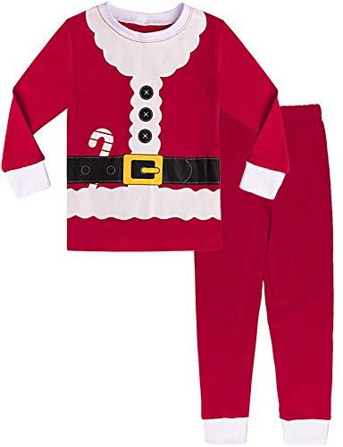 MOMBEBE COSLAND Pijama Papá Noel Niño Manga Larga Estampada (Papá Noel, 2 años)