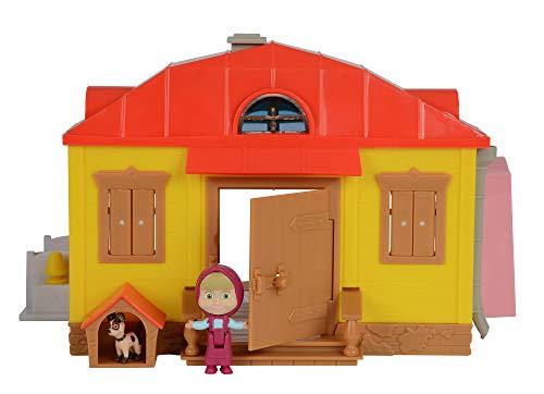 Simba 109301633 - Masha Playset Casa Richiudibile, con Personaggio