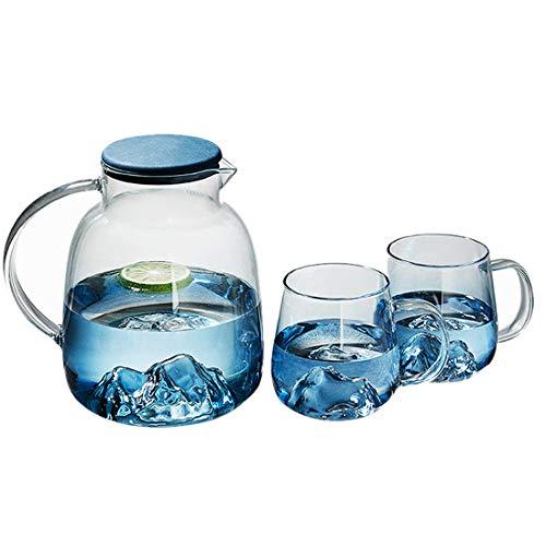 CANDeal Jarra Agua y Vasos de Vidrio Set, Jarra Agua Cristal