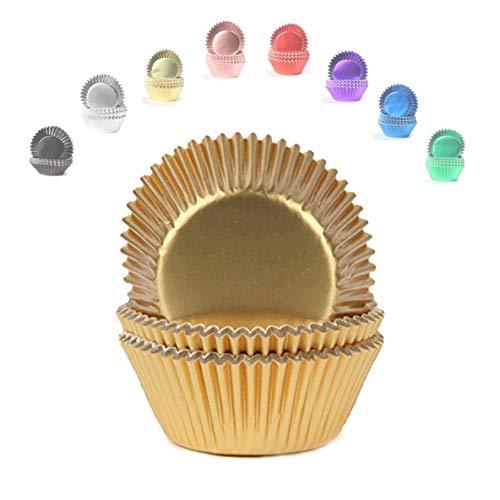 Miss Bakery's House® Mini-Muffinförmchen Folie - Ø 32 mm x 20 mm - Gold - 120 Stück