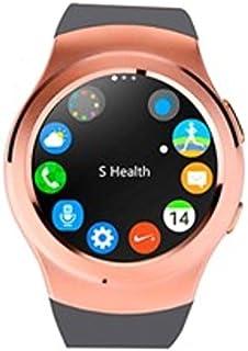 Swiss-pro - Reloj Inteligente Vernier smartwatch Dorado Oro BT 4.0/Tarjeta sim/pulsometro/podometro