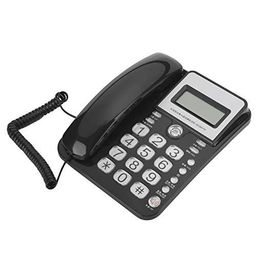 Teléfono Teléfono con cable Botón grande Teléfono de escritorio Identificación de llamadas Teléfono con cable único Teléfono con cable para oficina en casa Hotel Línea fija Teléfono de extensión de mo