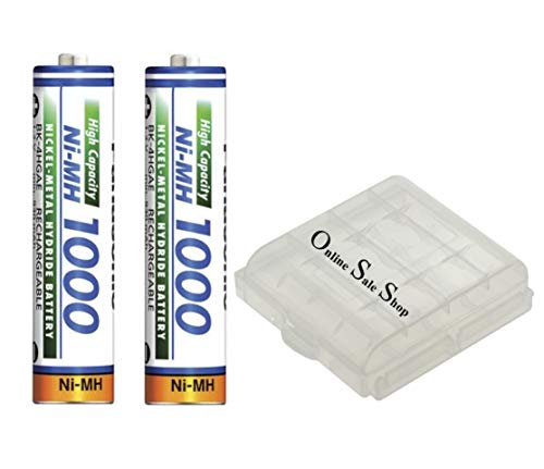 2X Panasonic AAA Akku 1000 mAh für Siemens Gigaset S100 S150 SX100 SX150 S440 S445 SX440 SX445 S450 S455 S645 SX450 SX455 S670 S675 SX670 SX675 C520 T-Sinus 702S 700 i 900 i 721 722 820 +OSS Akkubox
