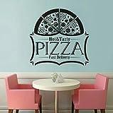 Calcomanía de vinilo para pared de espagueti italiano, decoración de cocina de restaurante, diseño de cocina de Pasta, adhesivo artístico para pared, póster de vinilo para ventana, 42x36 cm