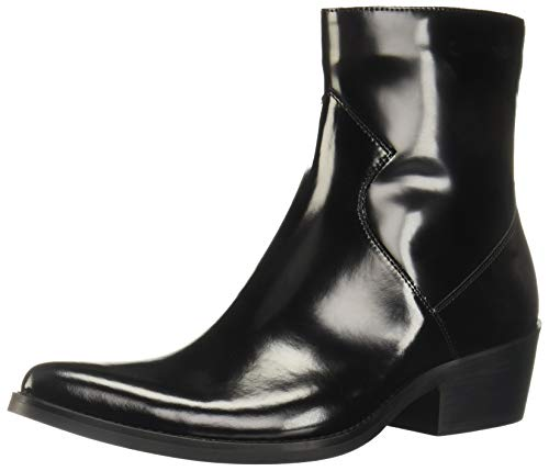 CK Jeans Men's Alden Ankle Boot, Black Box Calf Leather, 9 M US