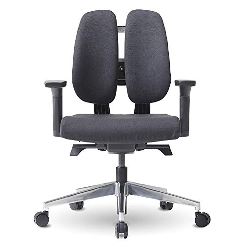 Duorest D2 Dual Backrest Ergonomic Office Chair with Smart Dial System, DONTAI's Self-Tilting Mechanism, Sponge Seat, Lumbar Support, Fully Adjustable Armrests [Black/Quantum Black]