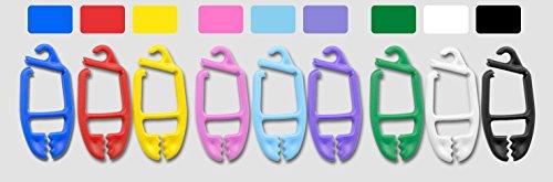 SUPI 15 Stück Sockenklammern Sockenclip Sockensortierer Sockenhalter - Farbset (rot - blau - gelb)