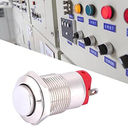 Empuje el interruptor de 12 mm 250V 500,000 veces 2 pines para equipos industriales para medición industrial(Tall head, pink)