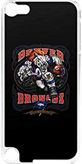 Skinit NFL Denver Broncos iPod Touch 6th Gen LeNu Case - Denver Broncos Running Back Design - Premium Vinyl Decal Phone Cover