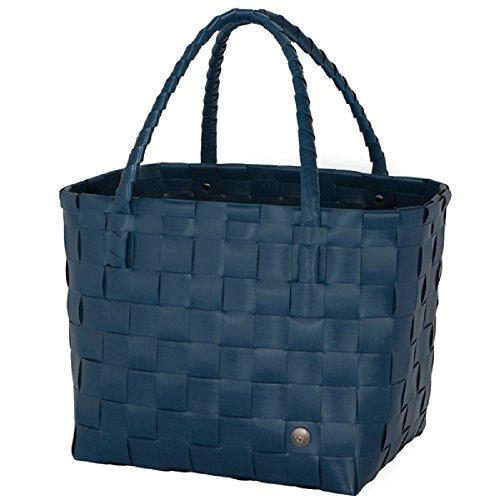 Handed By - Paris Shopper, Einkaufstasche - Ocean Blue - Größe S - 27x31x24 cm