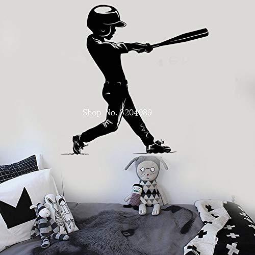 Apliques Venta de bádminton jugador tatuajes de pared sala de estar arte Mural volante patrón de la raqueta de salto pegatinas de pared deporte bricolaje XCM