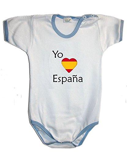 Zigozago - Body mameluco bebè ESPAÑA - Talla: 9 meses Color: azul - Para el artículo personalizado, seleccione https://www.amazon.es/dp/B07DWP9KZV
