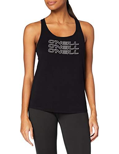 O'NEILL Triple Stack Racer Tanktop Camiseta, Mujer, Negro, Medium