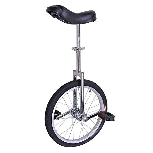 ANIUXIAOGE 18 Inch Wheel Unicycle Cycling Outdoor Sports Fitness Silver Tone