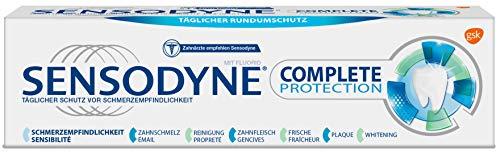 Sensodyne Complete Protection Zahnpasta, Tägliche Zahnpasta mit Fluorid, 1x75ml, bei schmerzempfindlichen Zähnen
