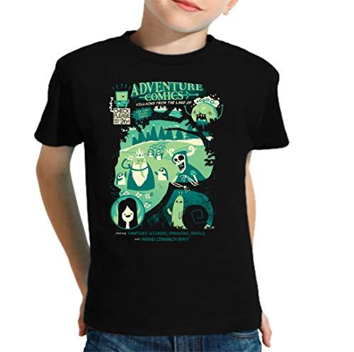 The Fan Tee Camiseta de NIÑOS Hora de Aventuras Jake Finn 006 11-12 años