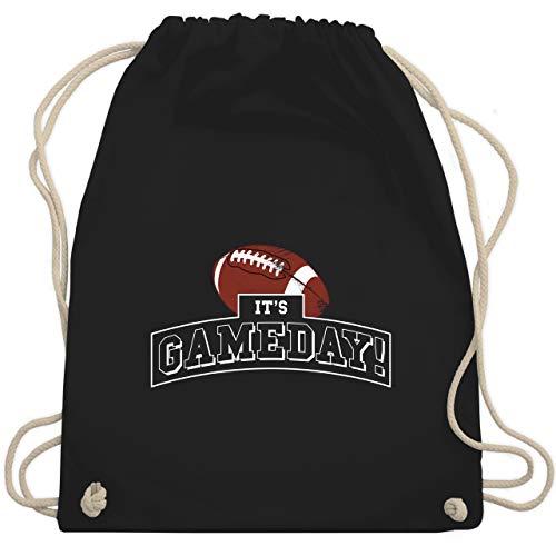 Sonstige Sportarten - It's Gameday Vintage Football - Unisize - Schwarz - american football geschenke - WM110 - Turnbeutel und Stoffbeutel aus Baumwolle