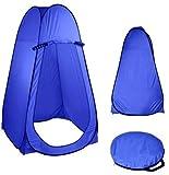 G.E. Tienda de campaña baño WC Ducha Vestuario Impermeable Camping desplegable Pop Up (Azul)
